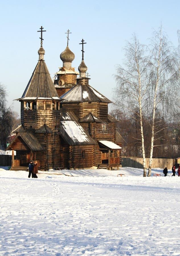 kościół z Rosji, drewniany obraz stock