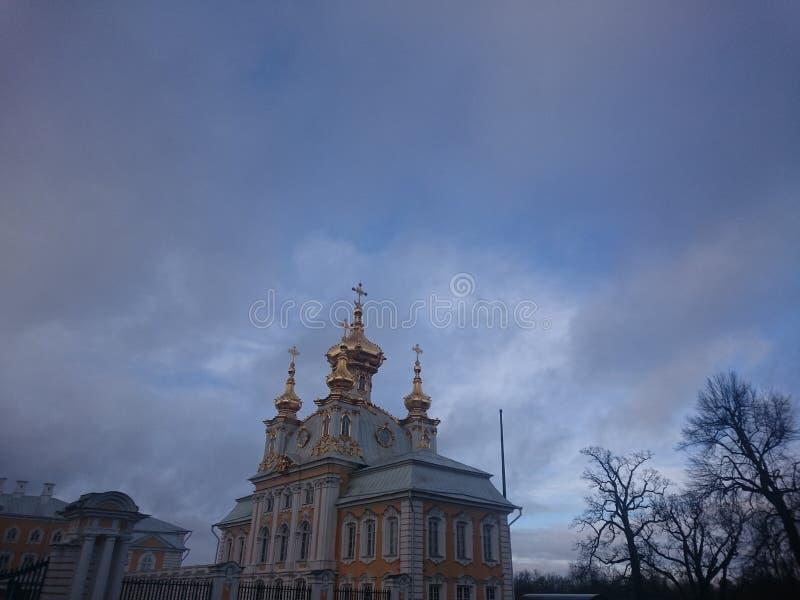 kościół, zima zdjęcia royalty free