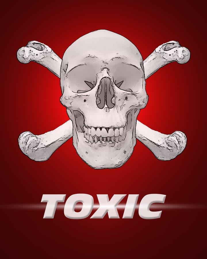 kości czaszki toksyczne royalty ilustracja
