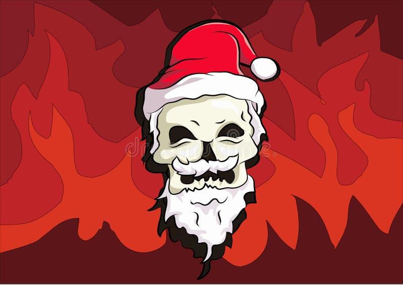 Kości głowy odzieży Santa kapelusz royalty ilustracja