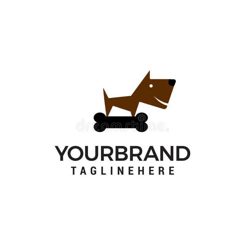 Kości i psa logo projekta pojęcia szablon ilustracji