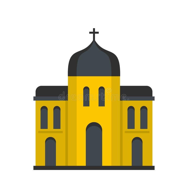 Kościelna architektury ikona, mieszkanie styl ilustracji