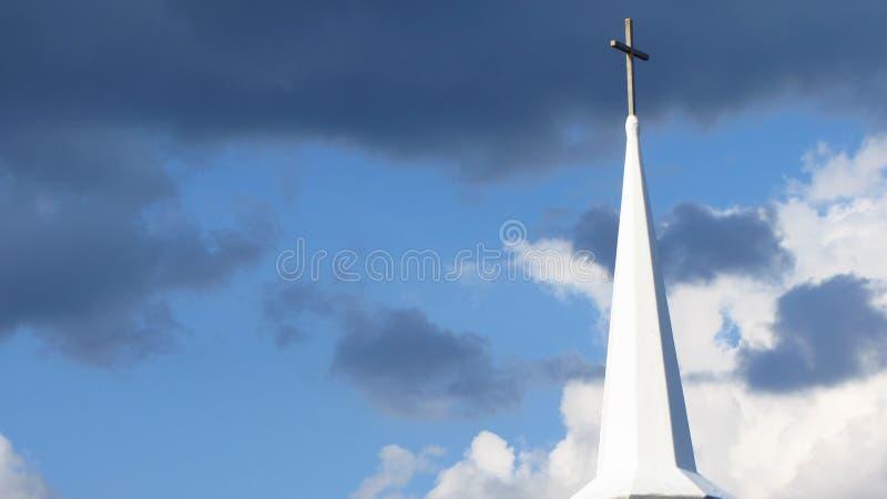 Kościelna iglica, Nowa Anglia zdjęcia royalty free