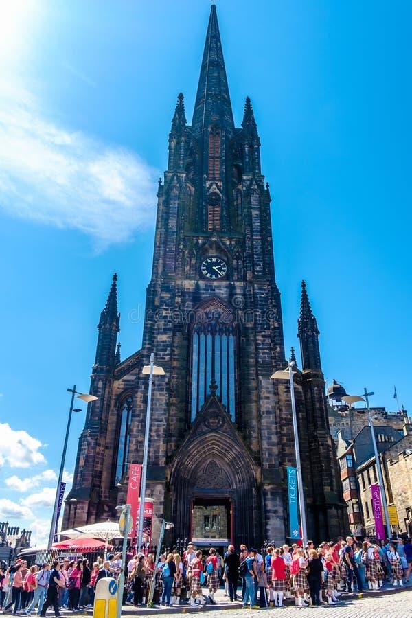 Kościelna iglica w Edynburg, Szkocja obrazy stock