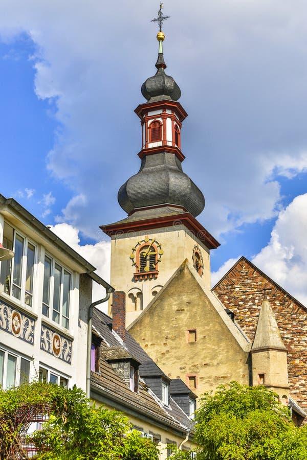 Kościelna iglica w Niemcy zdjęcie royalty free