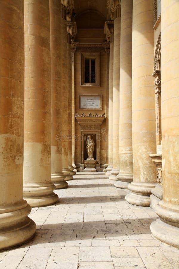 kościelna kolumnada obraz royalty free