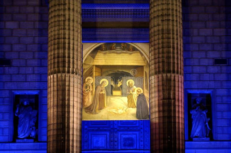 kościelna noc fotografia stock