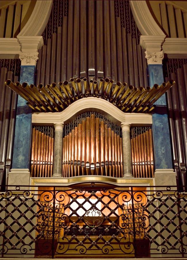kościelna organowa drymba zdjęcie stock