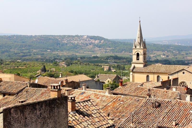 kościelna stara wioska fotografia stock