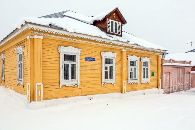 Kościelna szkółka niedzielna w antycznym rosyjskim miasteczku fotografia royalty free