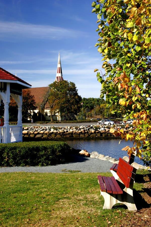 kościelna wioska zdjęcie stock