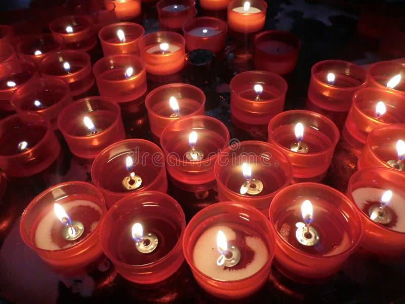 kościelne świece obraz royalty free