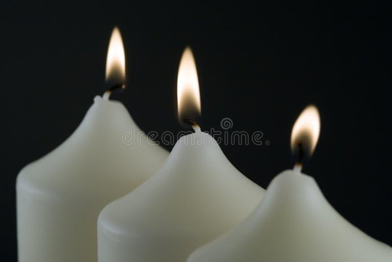 kościelne świece. zdjęcia royalty free