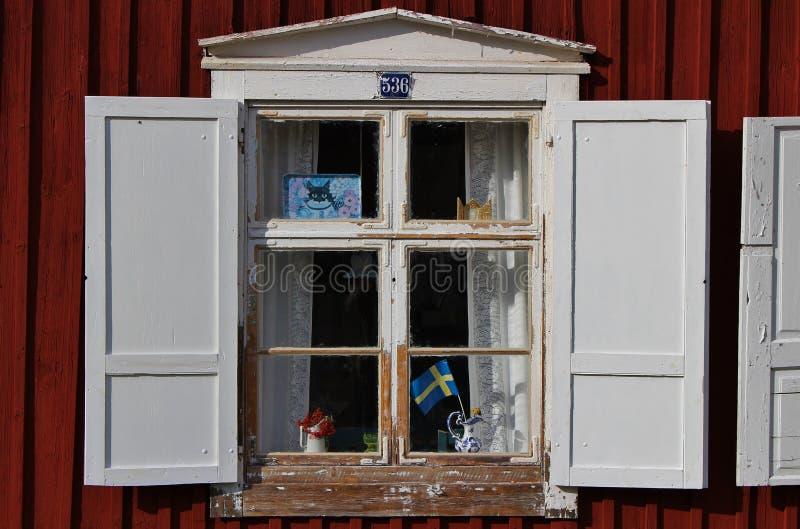 Kościelne chałupy w Gammelstad kościół miasteczku obraz stock