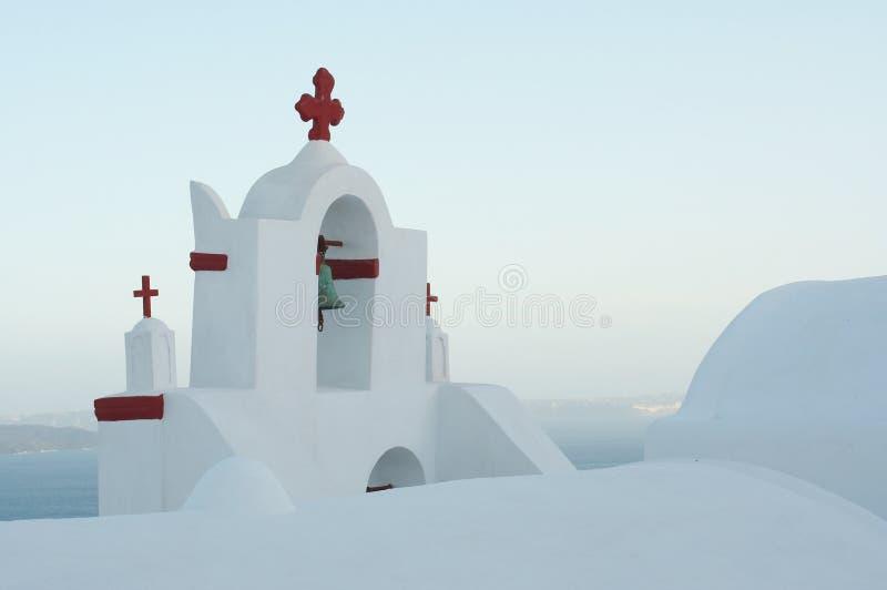 kościelne greckie wyspy doskonalić prostego zdjęcia stock
