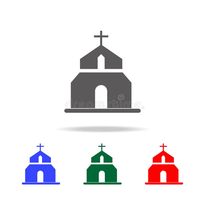 Kościelne ikony Elementy ślub w wielo- barwionych ikonach Premii ilości graficznego projekta ikona Prosta ikona dla stron interne ilustracji