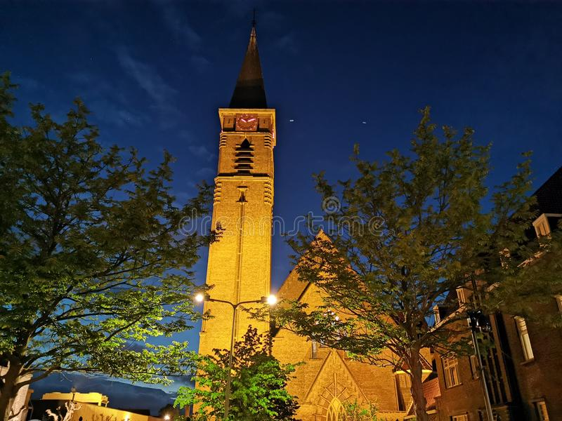 Kościelne Naaldwijk holandie zdjęcie royalty free