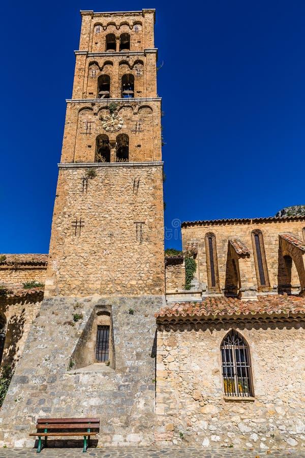 Kościelnego Bell wierza Sainte Maria, Francja fotografia stock