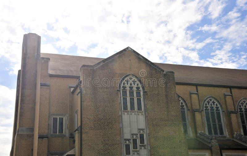 Kościelnego budynku Steeple obrazy royalty free