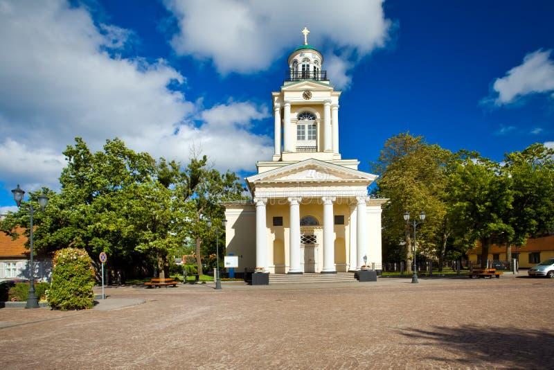 kościelnego ewangelickiego lutheran nikolay s ventspils obraz royalty free