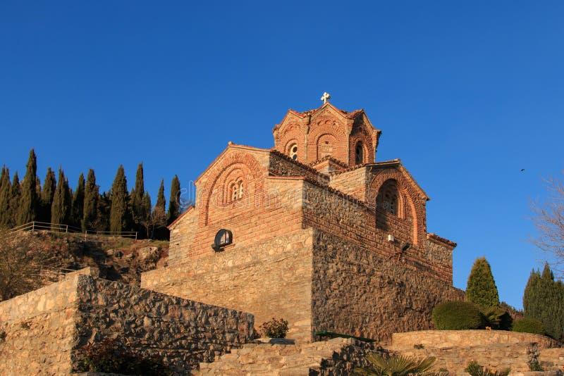 kościelnego jovan kaneo jeziorny ohrid świętego sveti obraz royalty free
