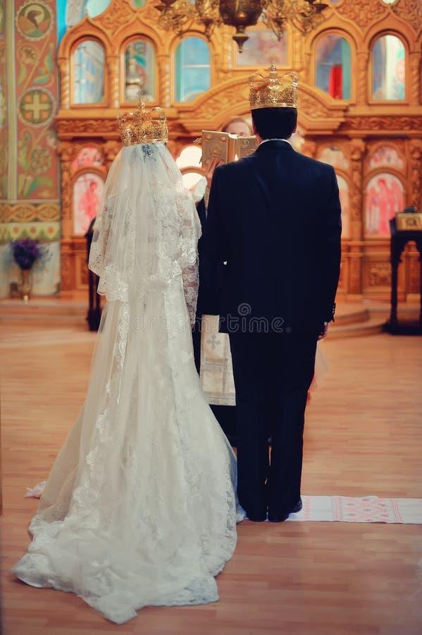 Kościelny ślub zdjęcie royalty free