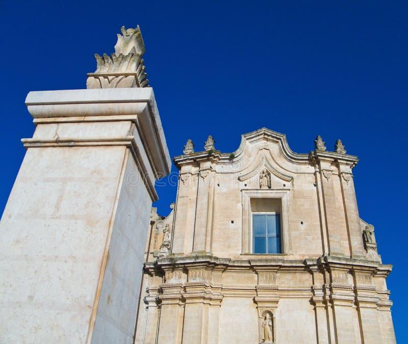 kościelny Agostino st Basilicata Matera obrazy stock