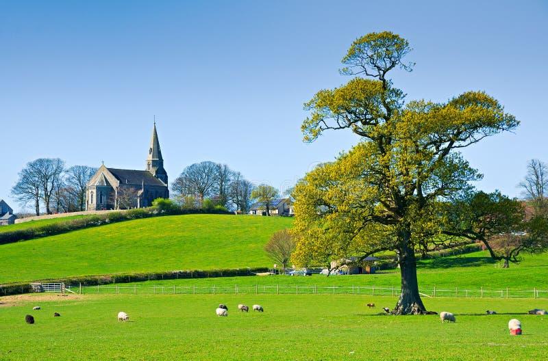 kościelny angielski wiejski fotografia royalty free