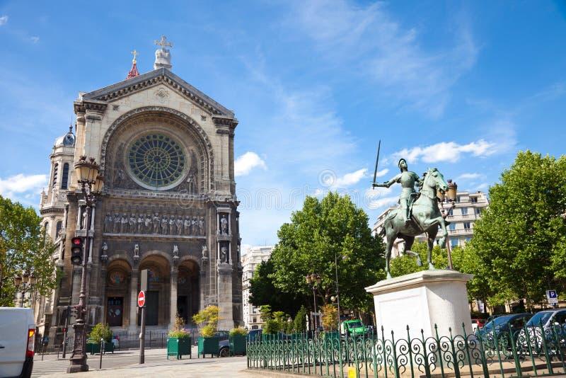 kościelny Augustin święty Paris zdjęcia stock