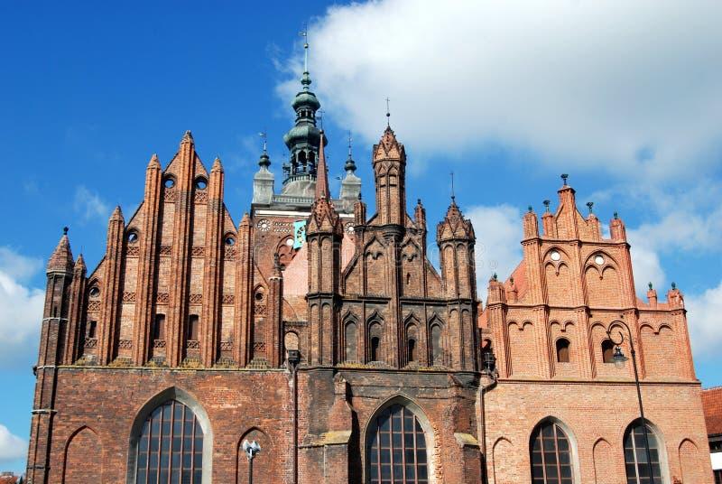 kościelny Catherine st Gdansk Poland zdjęcia stock