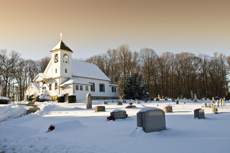 kościelny cmentarz obraz stock
