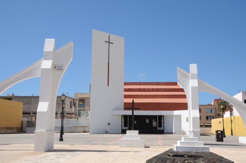 kościelny corralejo Fuerteventura Spain obrazy stock