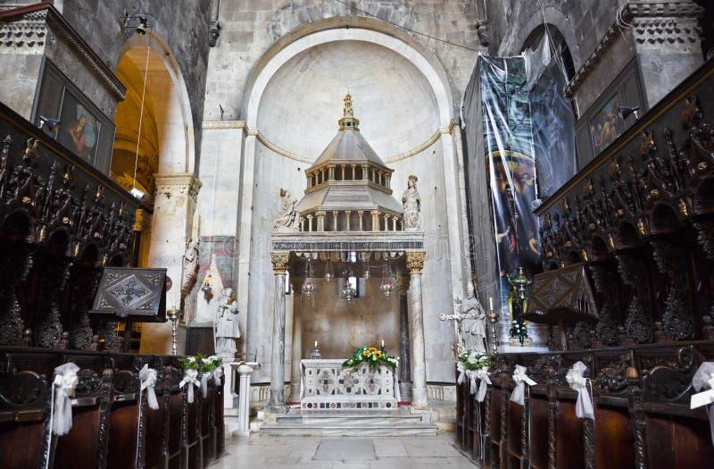 kościelny Croatia wnętrza trogir fotografia stock