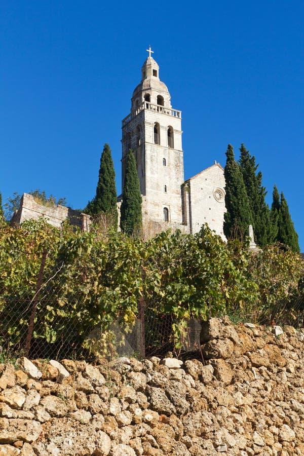 kościelny Croatia wyspy komiza vis fotografia stock