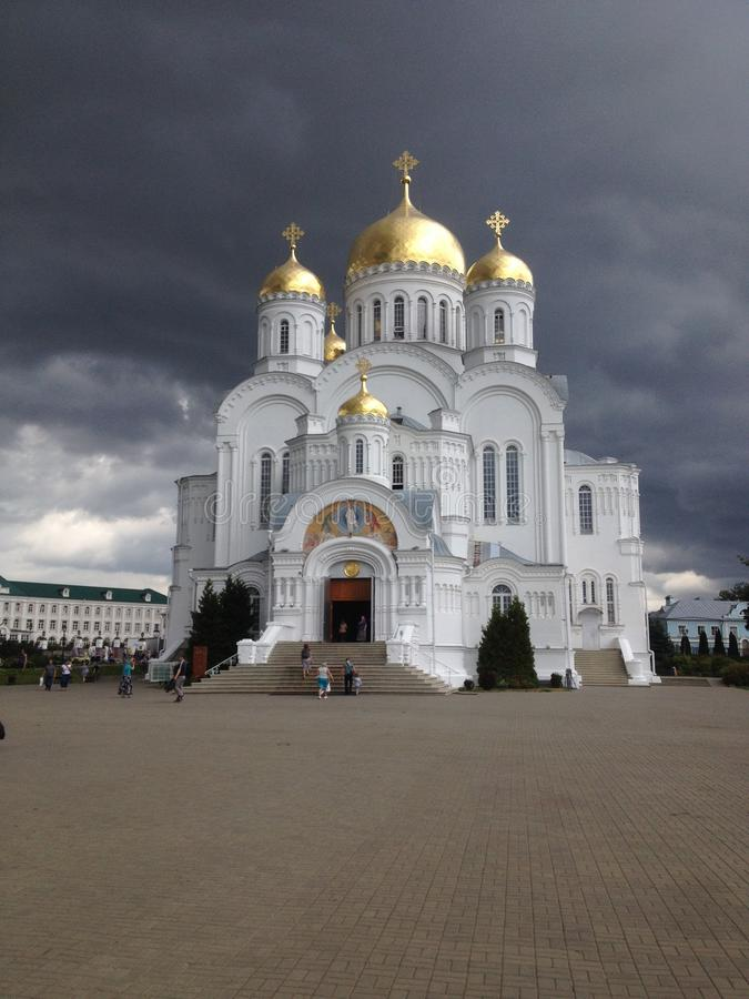 Kościelny Diveevo Ryazan region, rosjanin obrazy royalty free
