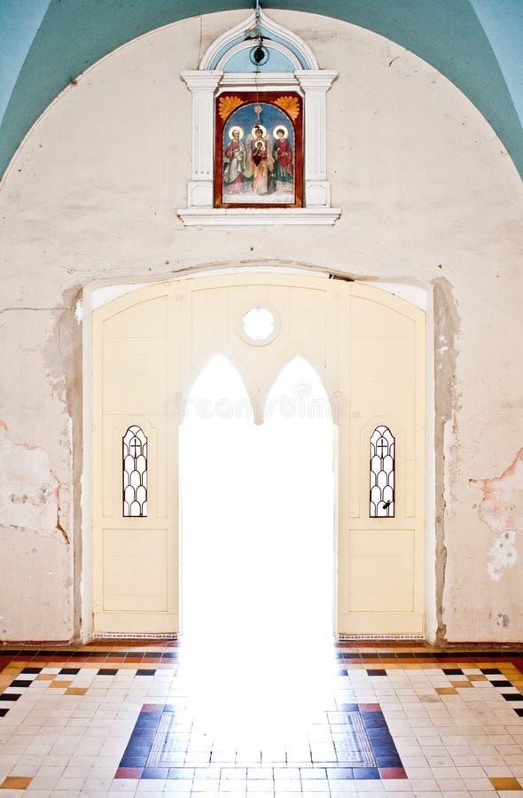kościelny drzwi zdjęcia royalty free