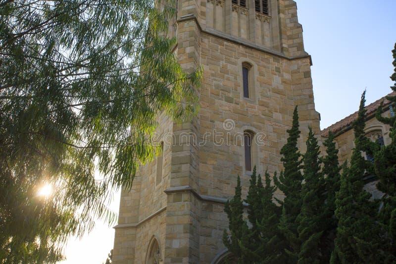 Kościelny dzwonkowy wierza szczegół zdjęcie royalty free