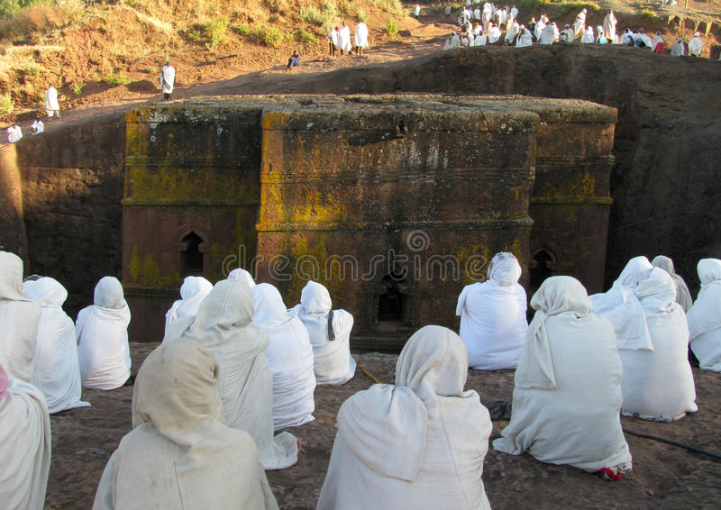 kościelny Ethiopia George lalibela st zdjęcia stock