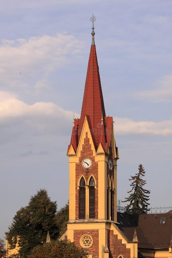 kościelny ewangelicki morave na zabreh fotografia royalty free