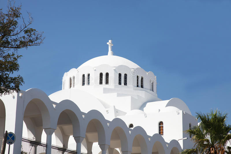 kościelny grecki wyspy santorini biel zdjęcia stock