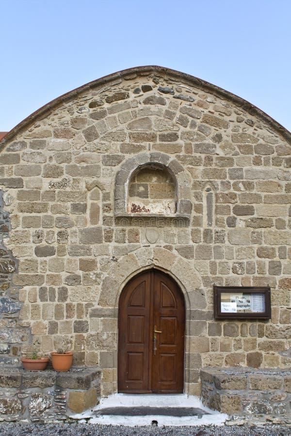 kościelny Greece stary ortodoksyjny Rhodes zdjęcia royalty free