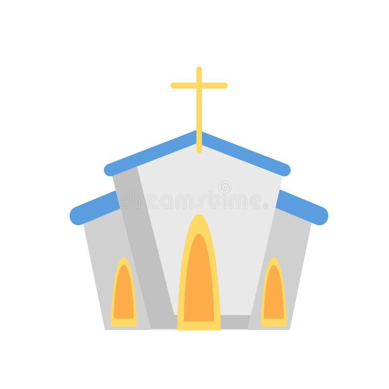 Kościelny ikona wektor odizolowywający na białym tle, kościół znak, rodzinni symbole royalty ilustracja