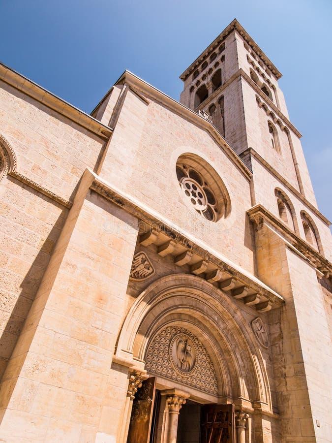 kościelny Jerusalem lutheran odkupiciel fotografia stock