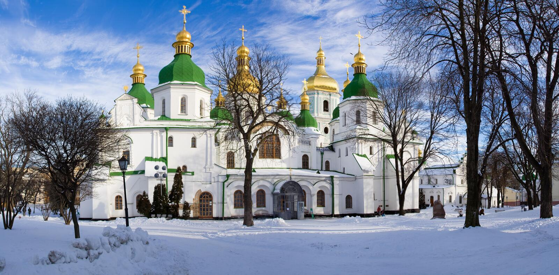 kościelny Kiev Sofia obrazy stock