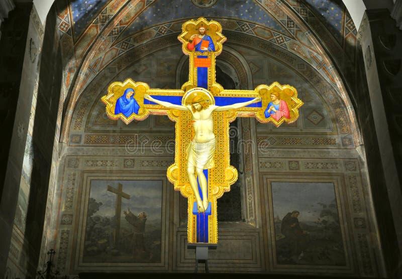 kościelny krucyfiksu giotto włoch fotografia stock