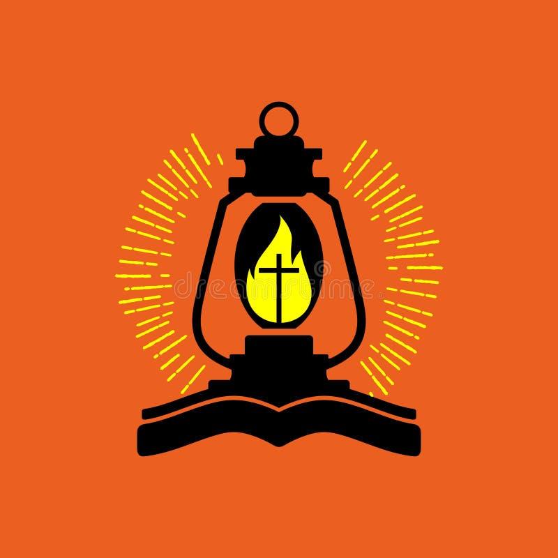 Kościelny logo Bóg ` s lampa royalty ilustracja