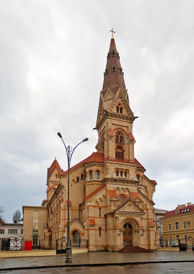 kościelny lutheran Odessa Paul s st obraz royalty free