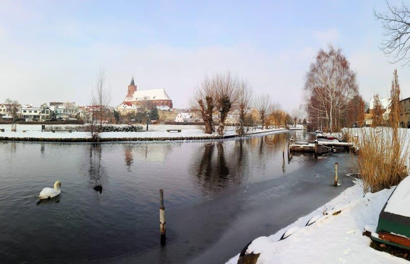 Kościelny Marienkirche Von Beeskow w Brandenburg obraz royalty free