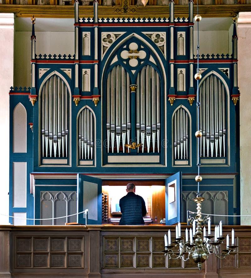 Kościelny organ przy Zingst obraz stock
