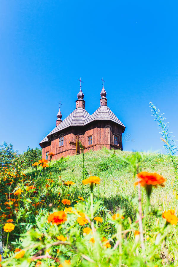 kościelny ortodoksyjny drewniany Ukraina fotografia royalty free